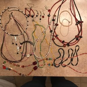 Assorted beaded jewelry lot